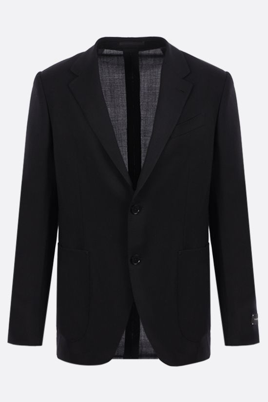 ERMENEGILDO ZEGNA: Packaway single-breasted wool jacket Color Black_1