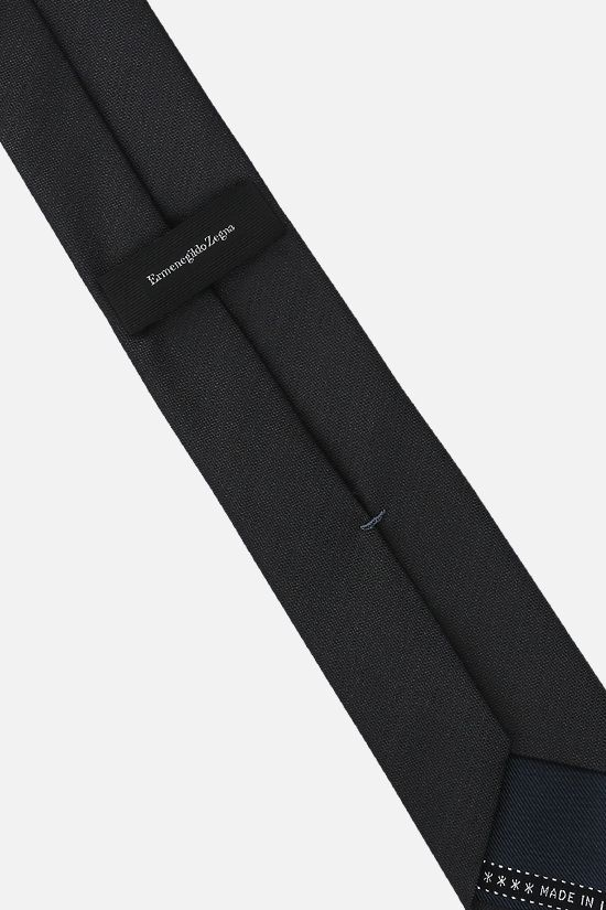 ERMENEGILDO ZEGNA: silk twill tie Color Grey_2