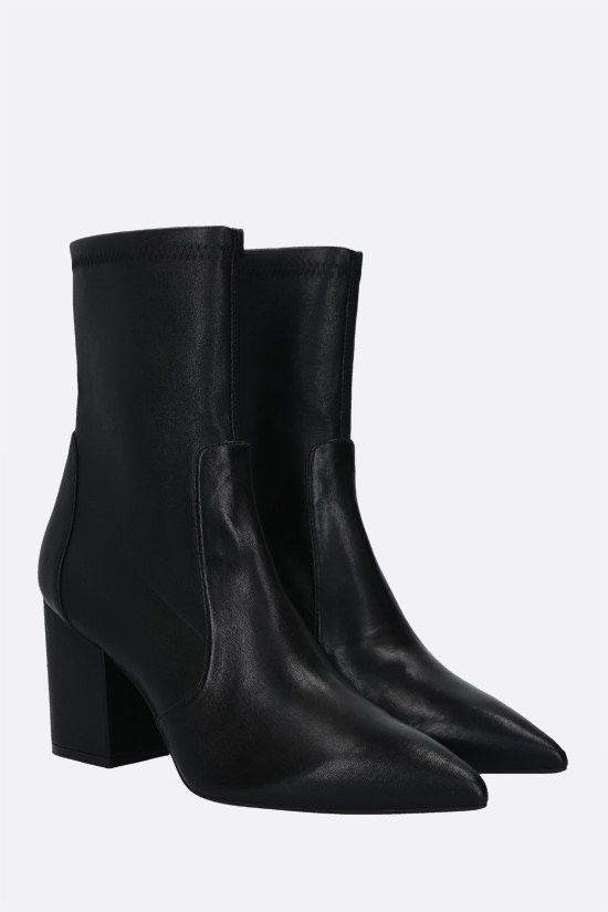 STUART WEITZMAN: Vernell 75 soft nappa ankle boots Color Black_2