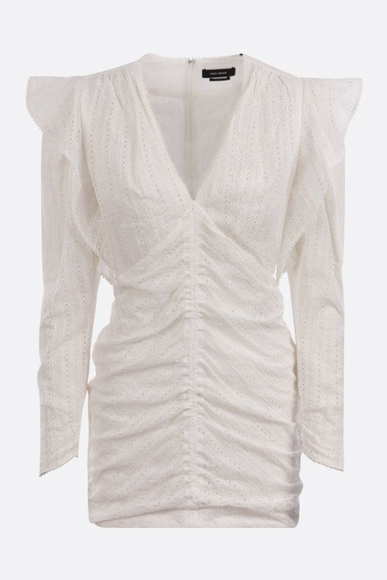 ISABEL MARANT: Getya broderie anglaise minidress Color White_1