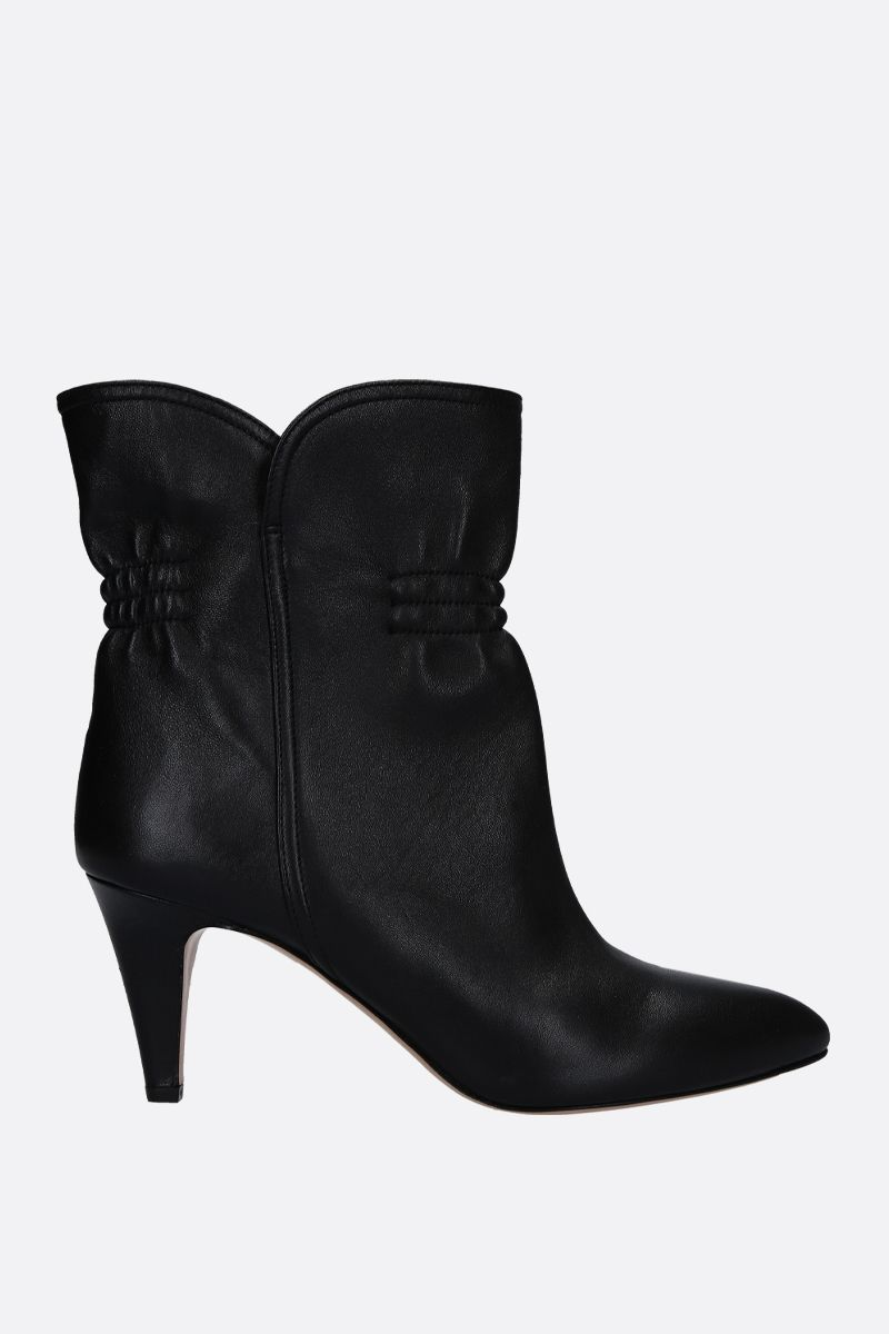 ISABEL MARANT: Dedie ankle boots in smooth leather Color Black_1