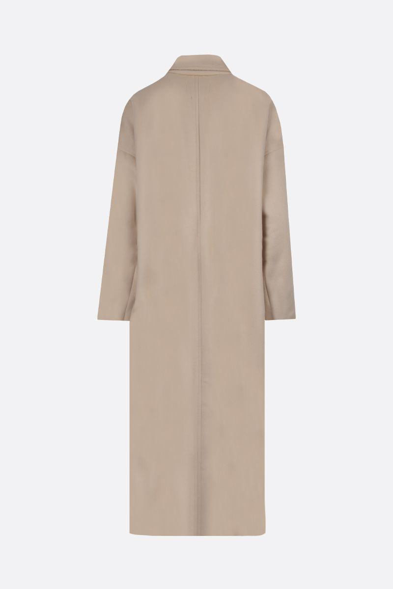 ISABEL MARANT: Elliot oversize wool cashmere blend double-breasted coat Color Neutral_2
