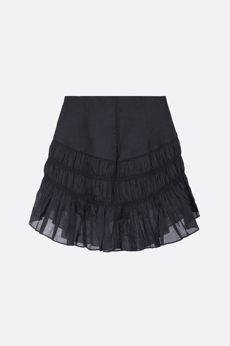 ISABEL MARANT: gonna corta Sidney in ramia Colore Nero_1