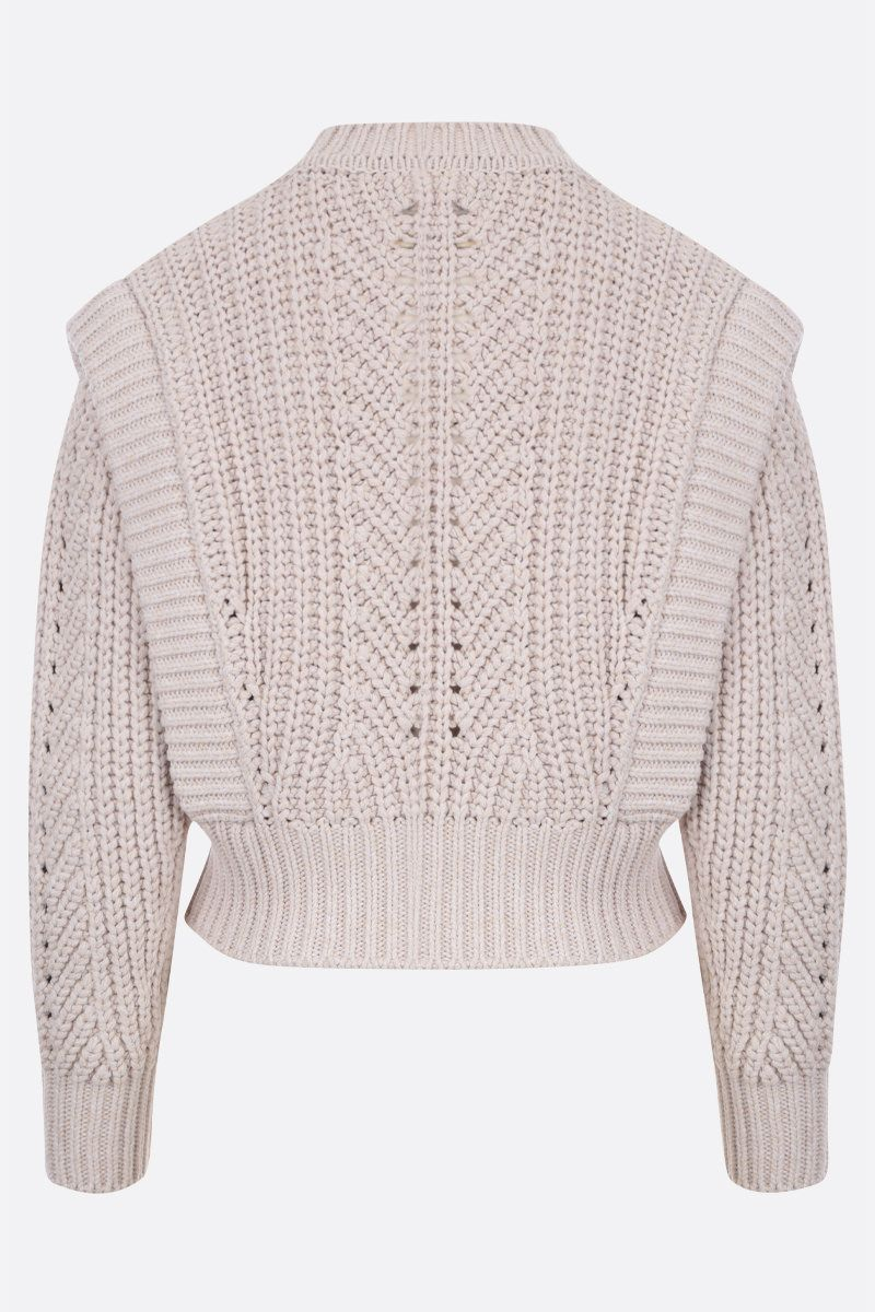 ISABEL MARANT: Prune cotton blend pullover Color Neutral_2