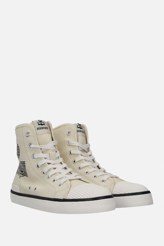 ISABEL MARANT: Benkeen canvas high-top sneakers Color Neutral_2