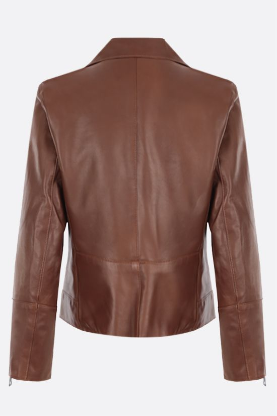 SYLVIE SCHIMMEL: Metro nappa biker jacket Color Brown_2