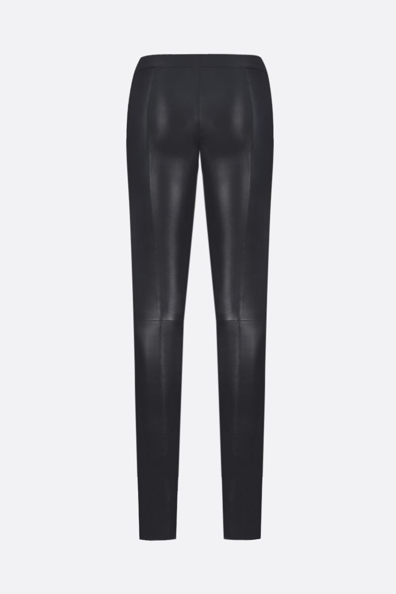 SYLVIE SCHIMMEL: Fun stretch nappa leggings Color Grey_2