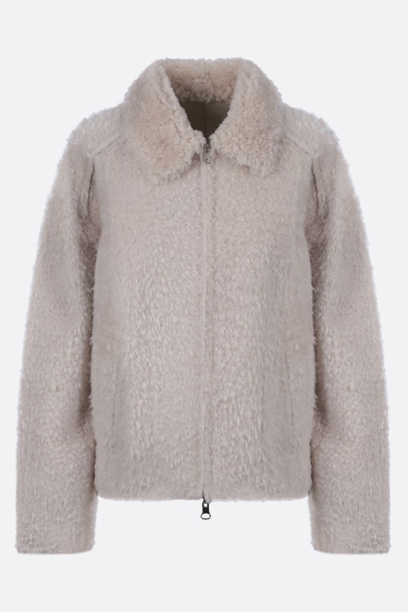 SYLVIE SCHIMMEL: Alto shearling reversible jacket Color White_1