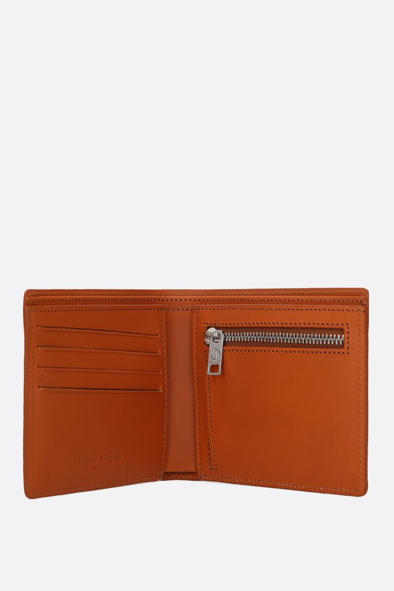 MAISON MARGIELA: smooth leather billfold wallet Color Brown_2