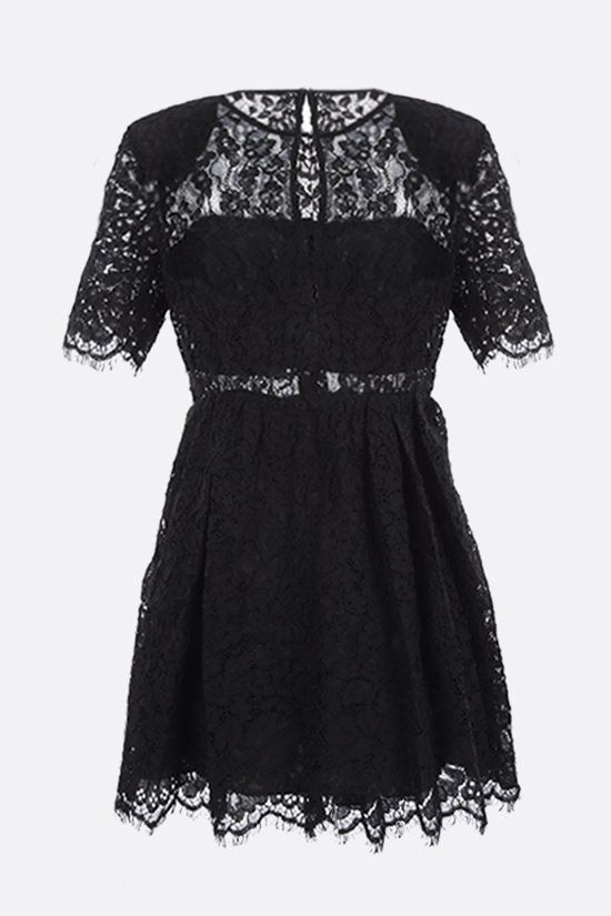 SELF PORTRAIT: cord lace minidress Color Black_2
