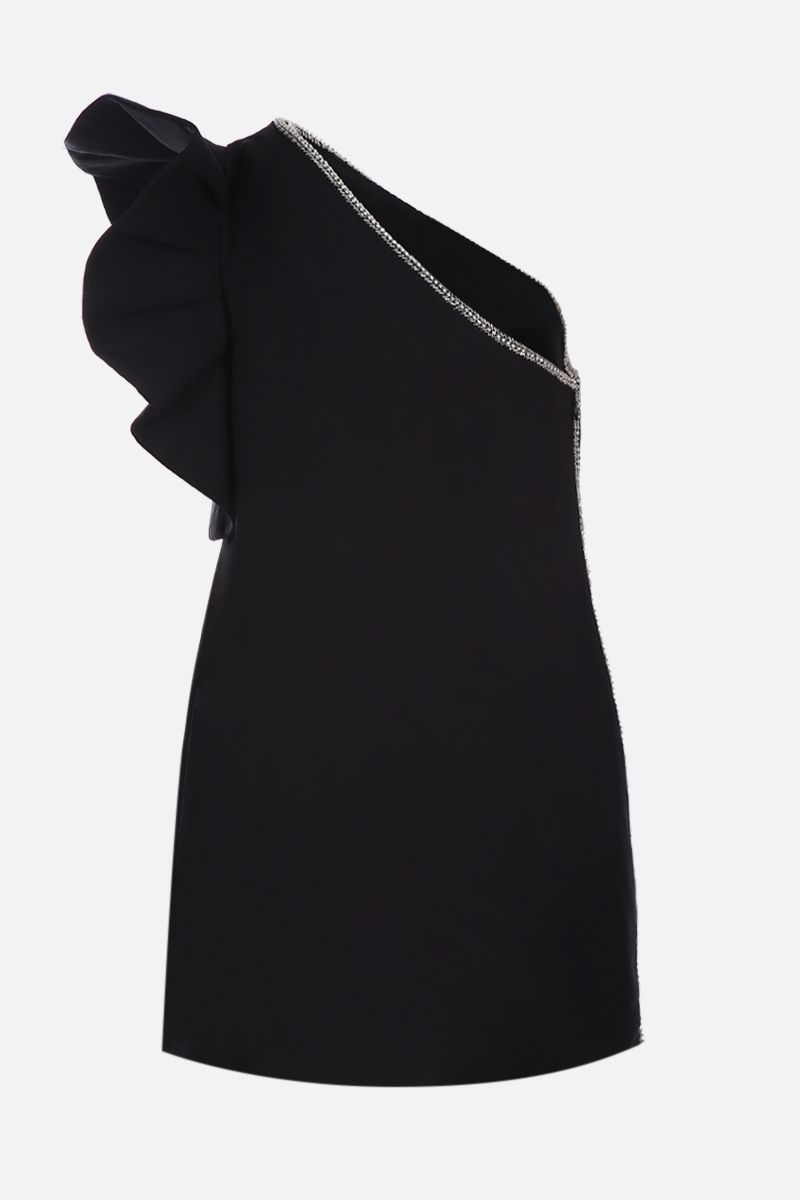 SELF PORTRAIT: crepe one-shoulder dress Color Black_2