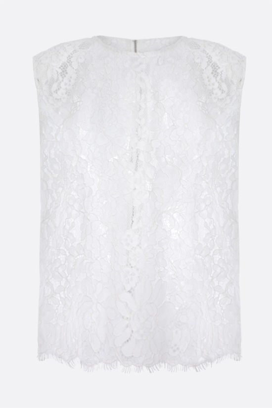 SELF PORTRAIT: cord lace sleeveless top Color White_1