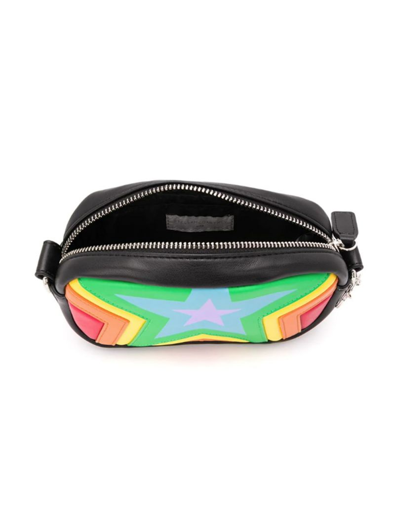 STELLA McCARTNEY KIDS: stars print faux leather crossbody bag Color Multicolor_2