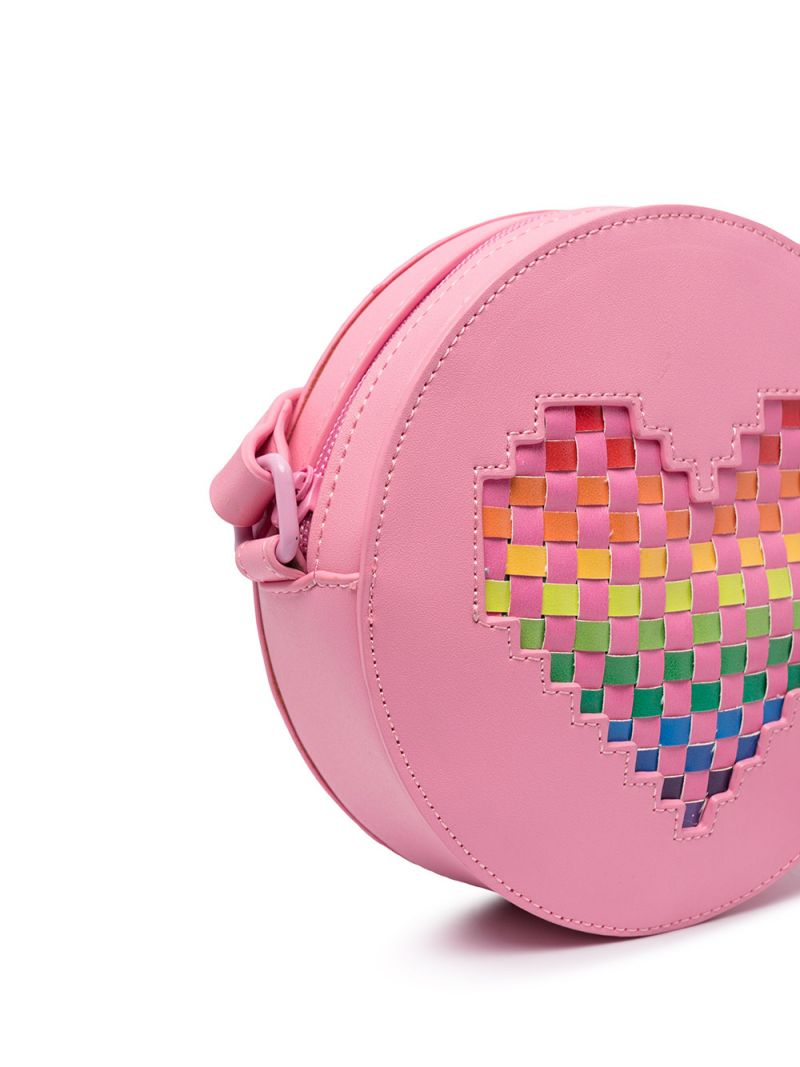 STELLA McCARTNEY KIDS: heart-detailed faux leather shoulder bag Color Pink_2