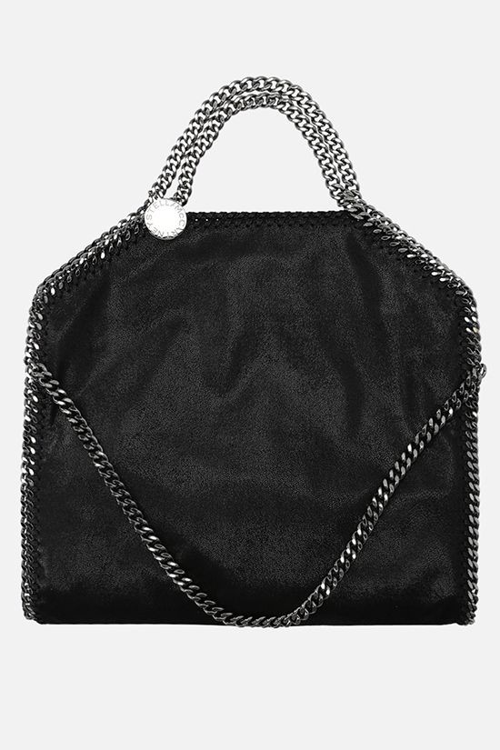 STELLA McCARTNEY: Falabella Fold Over Shaggy Deer tote Color Black_1