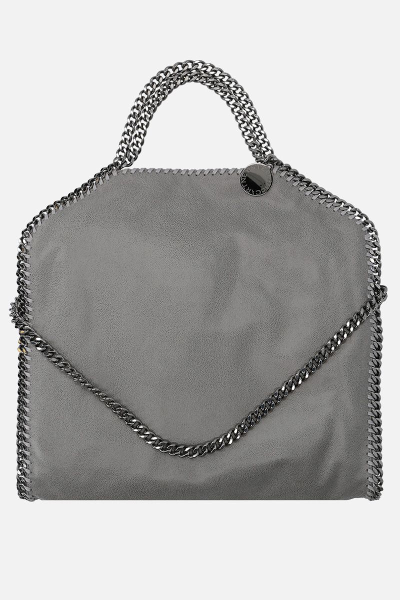 STELLA McCARTNEY: Falabella Fold over Shaggy Deer tote Color Grey_1