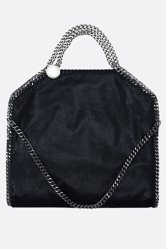 STELLA McCARTNEY: Falabella fold over tote in Shaggy Deer Color Blue_1