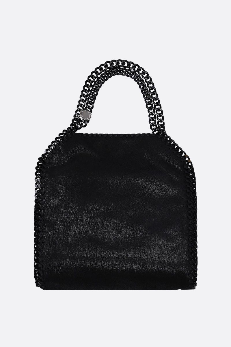 STELLA McCARTNEY: Falabella mini tote in Shaggy Deer Color Black_1