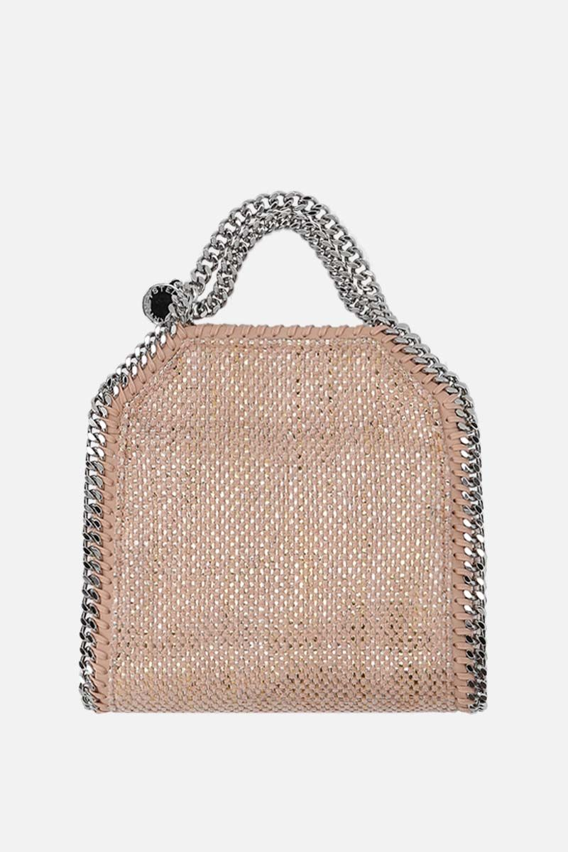 STELLA McCARTNEY: Falabella mini tote in woven fabric Color Pink_1