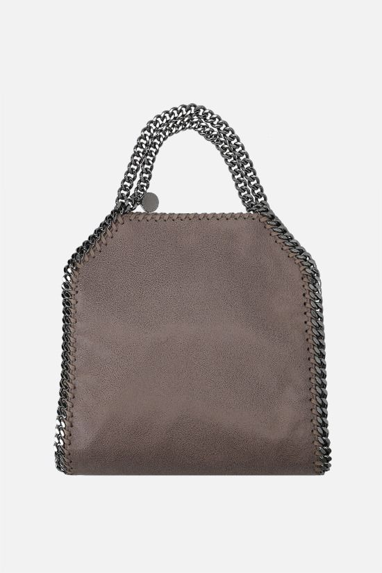 STELLA McCARTNEY: Falabella mini tote in Shaggy Deer Color Grey_1