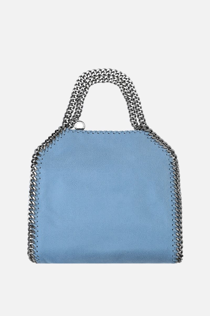 STELLA McCARTNEY: Falabella mini tote in Shaggy Deer Color Blue_1