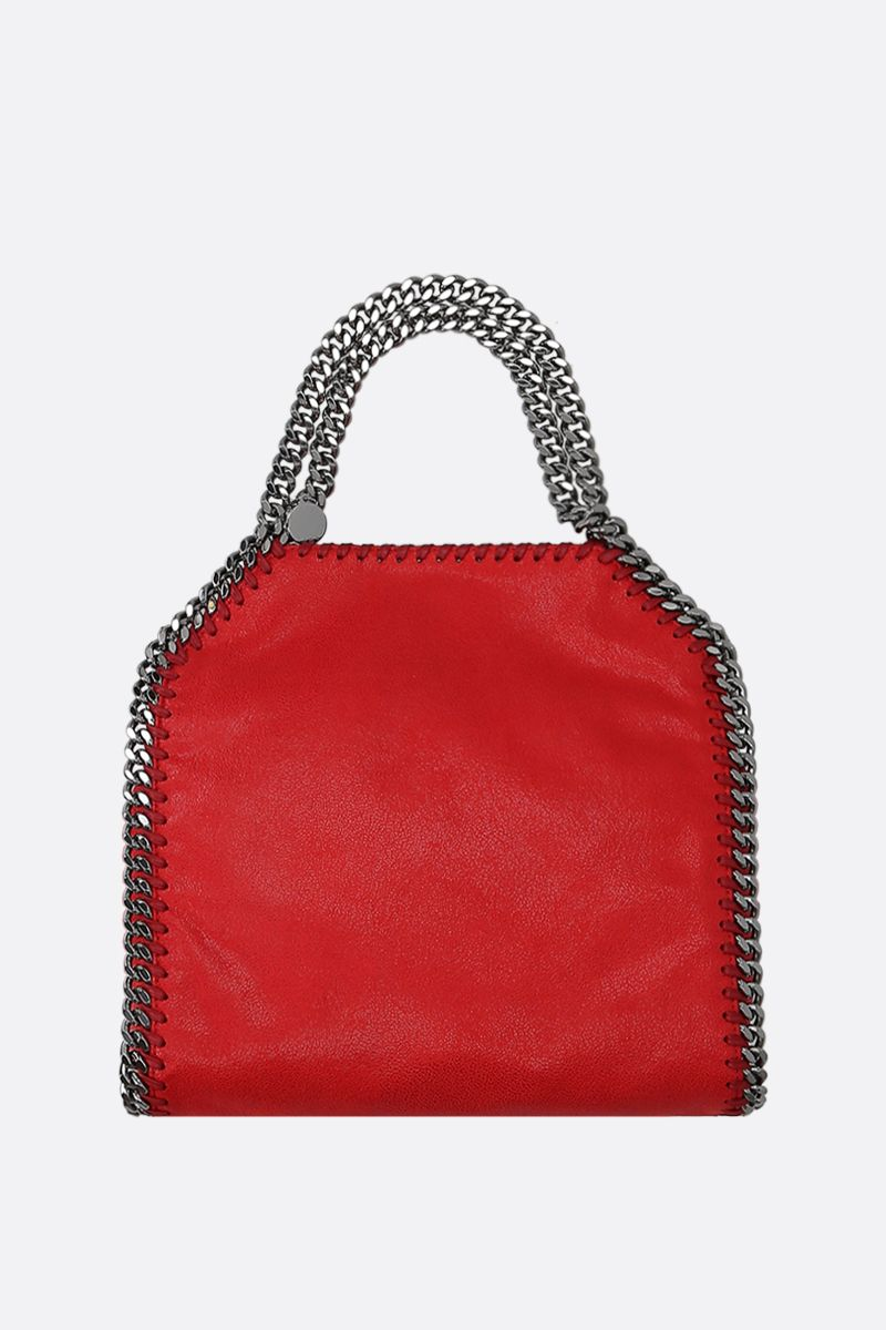 STELLA McCARTNEY: Falabella mini tote in Shaggy Deer Color Red_1