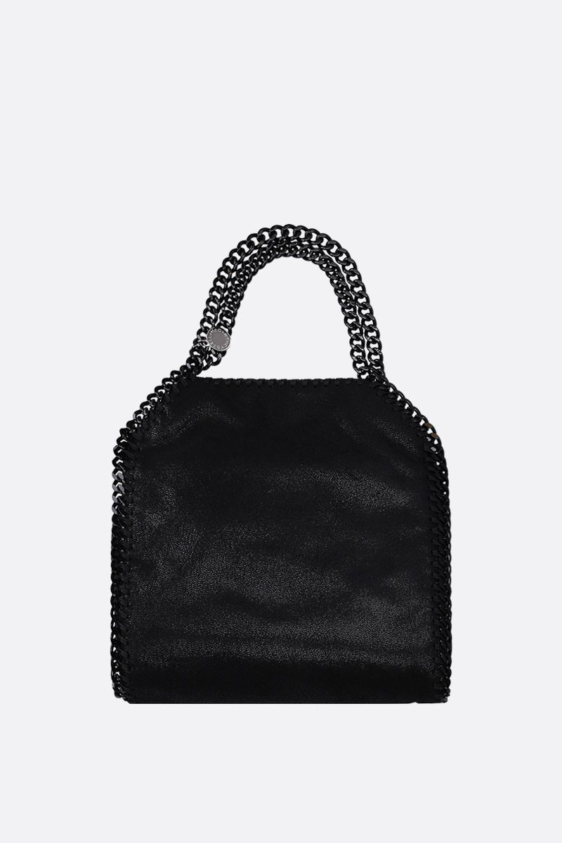STELLA McCARTNEY: Falabella tiny tote in Shaggy Deer Color Black_1