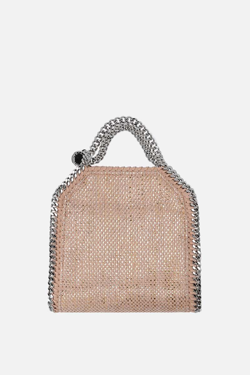 STELLA McCARTNEY: Falabella tiny tote in woven fabric Color Pink_1