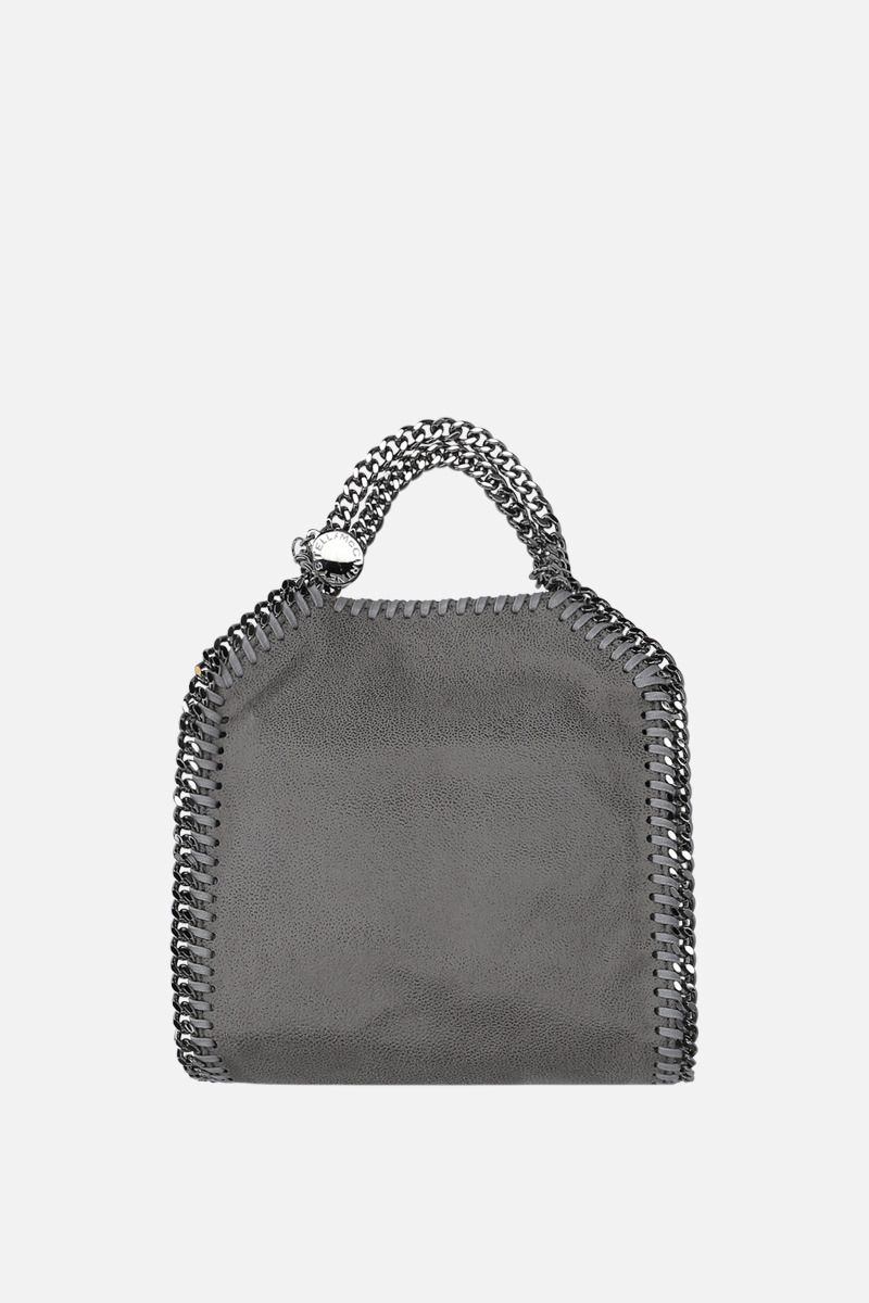 STELLA McCARTNEY: Falabella tiny Shaggy Deer tote Color Grey_1