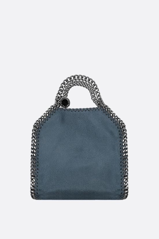 STELLA McCARTNEY: Falabella tiny tote in Shaggy Deer Color Blue_1