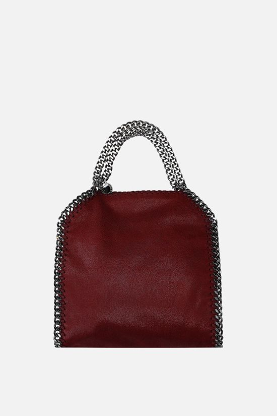 STELLA McCARTNEY: Falabella Tiny tote bag in Shaggy Deer Color Red_1