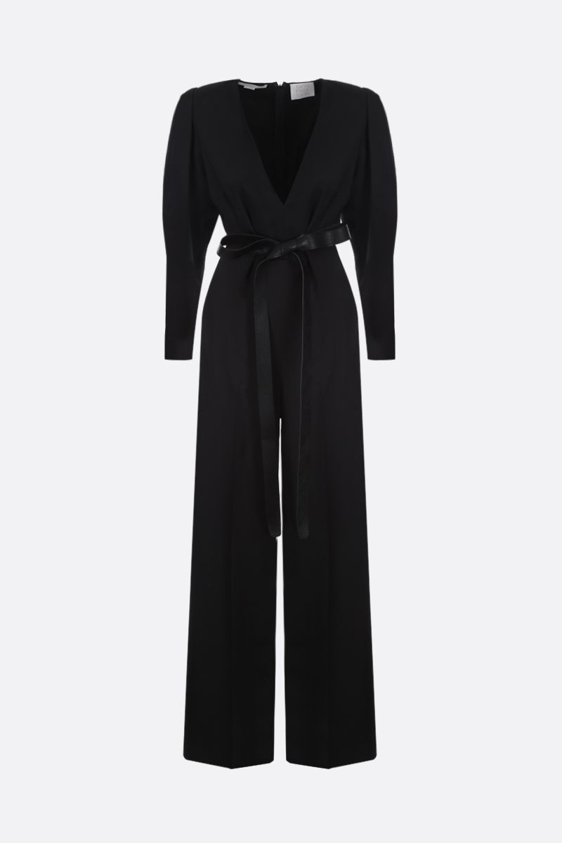 STELLA McCARTNEY: twill jumpsuit with Alter Nappa detail Color Black_1