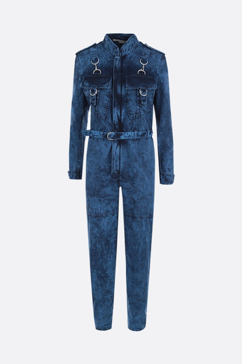 STELLA McCARTNEY: cotton jumpsuit Color Blue_1