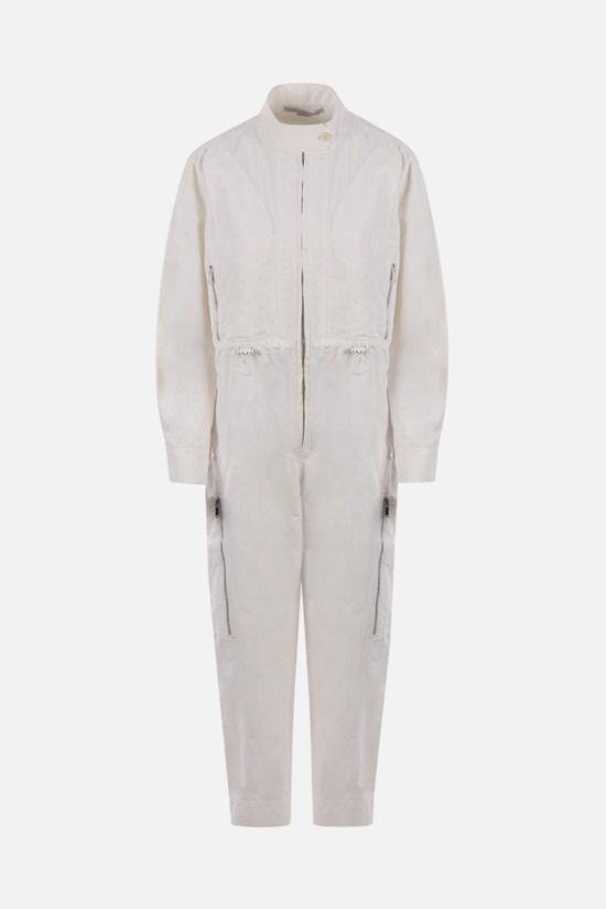 STELLA McCARTNEY: jumpsuit Alessia in cotone compatto Colore Neutro_1