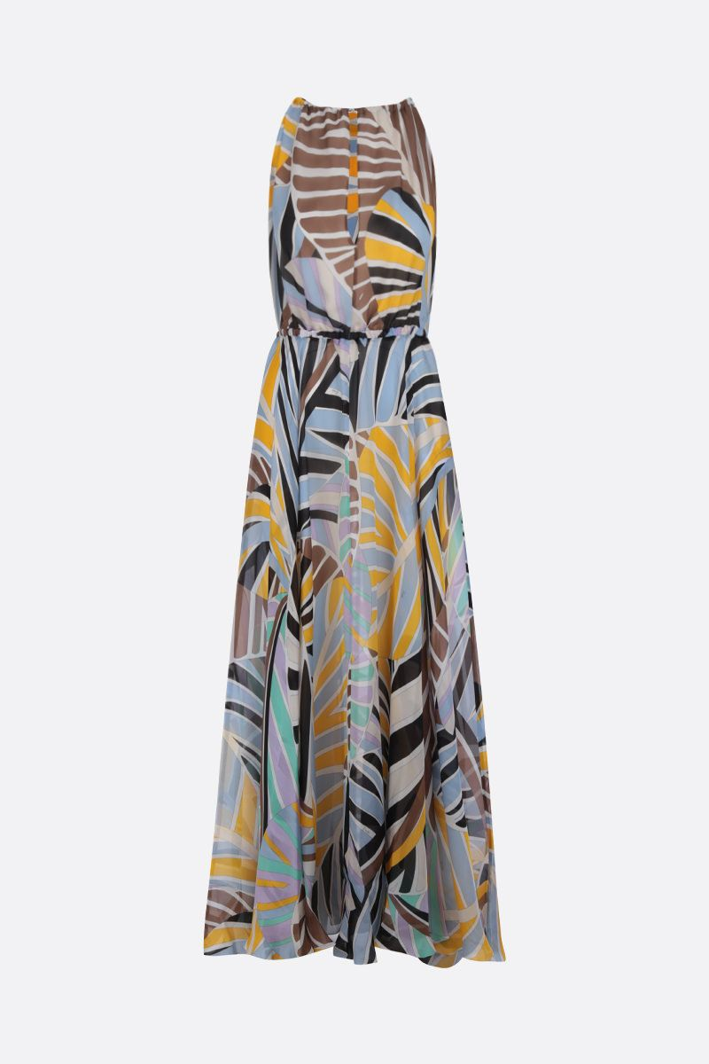 EMILIO PUCCI: Sal printed silk long dress Color Yellow_1
