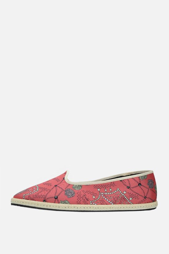 EMILIO PUCCI: seashell print twill ballerinas Color Red_2