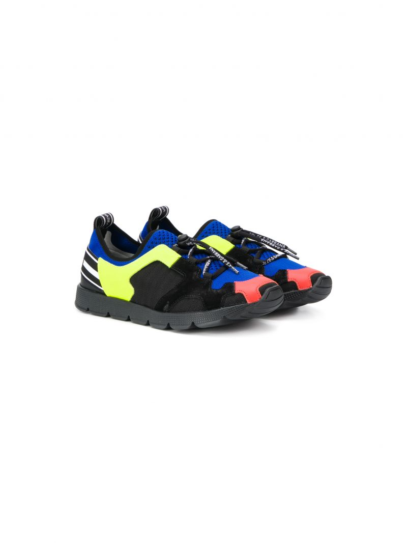 DOLCE & GABBANA CHILDREN: Sorrento sneakers in stretch knit Color Multicolor_1