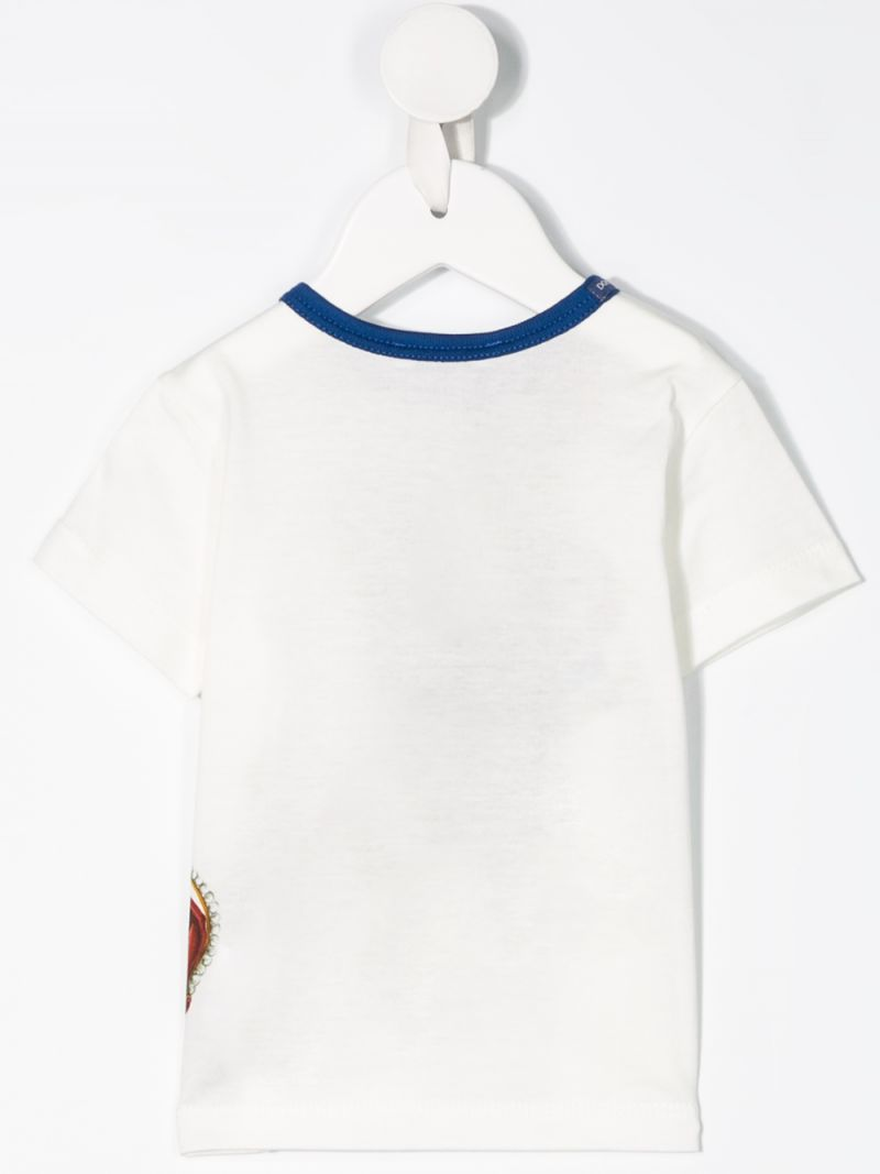 DOLCE & GABBANA CHILDREN: Crown print jersey t-shirt Color White_2