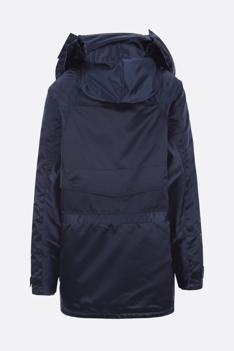 BALENCIAGA: Incognito parka in technical nylon Color Blue_2