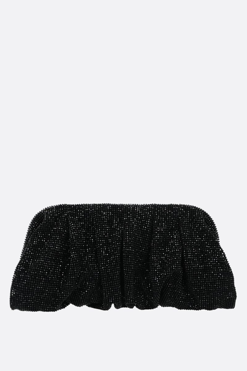 BENEDETTA BRUZZICHES: Venere big crystal-embellished metal mesh clutch_1