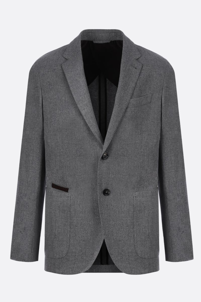 ERMENEGILDO ZEGNA: wool cashmere blend single-breasted jacket_1