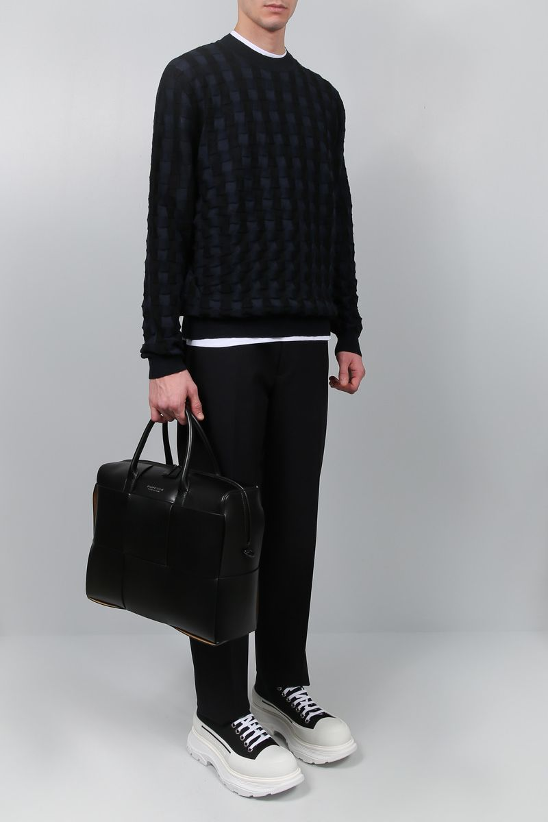 BOTTEGA VENETA: Maxi Intrecciato Cabas business bag Color Black_2