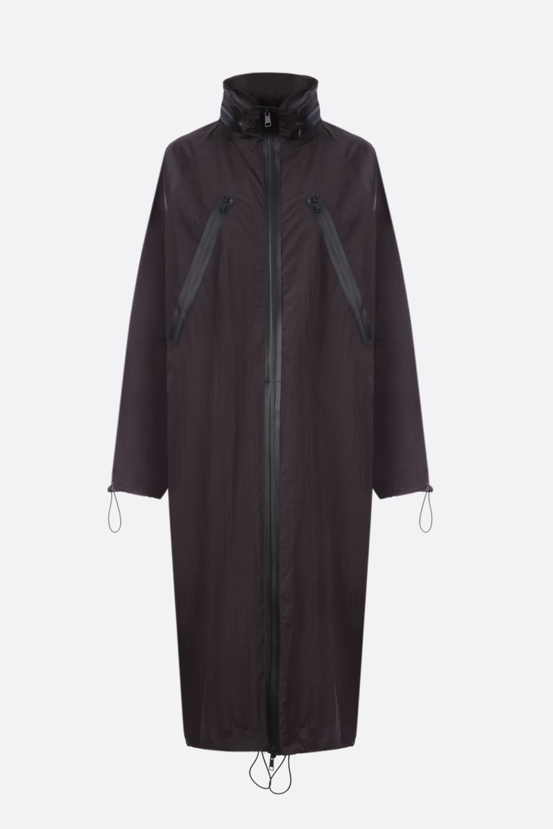 BOTTEGA VENETA: parka oversize in nylon Colore Marrone_1