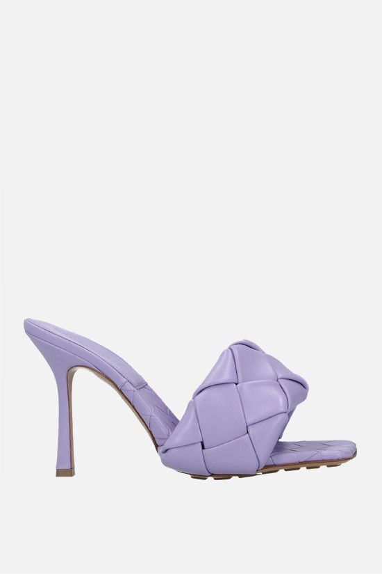 BOTTEGA VENETA: BV Lido sandals in Intrecciato nappa Color Purple_1