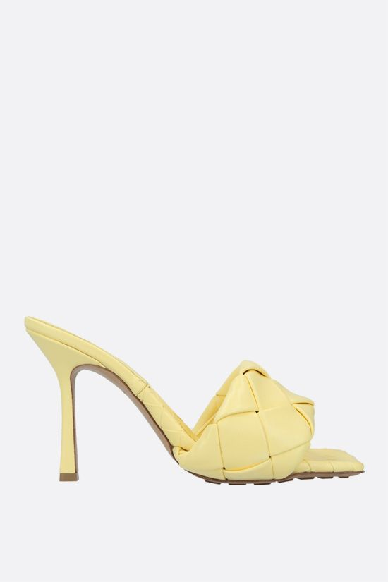 BOTTEGA VENETA: BV Lido sandals in Intrecciato nappa Color Yellow_1
