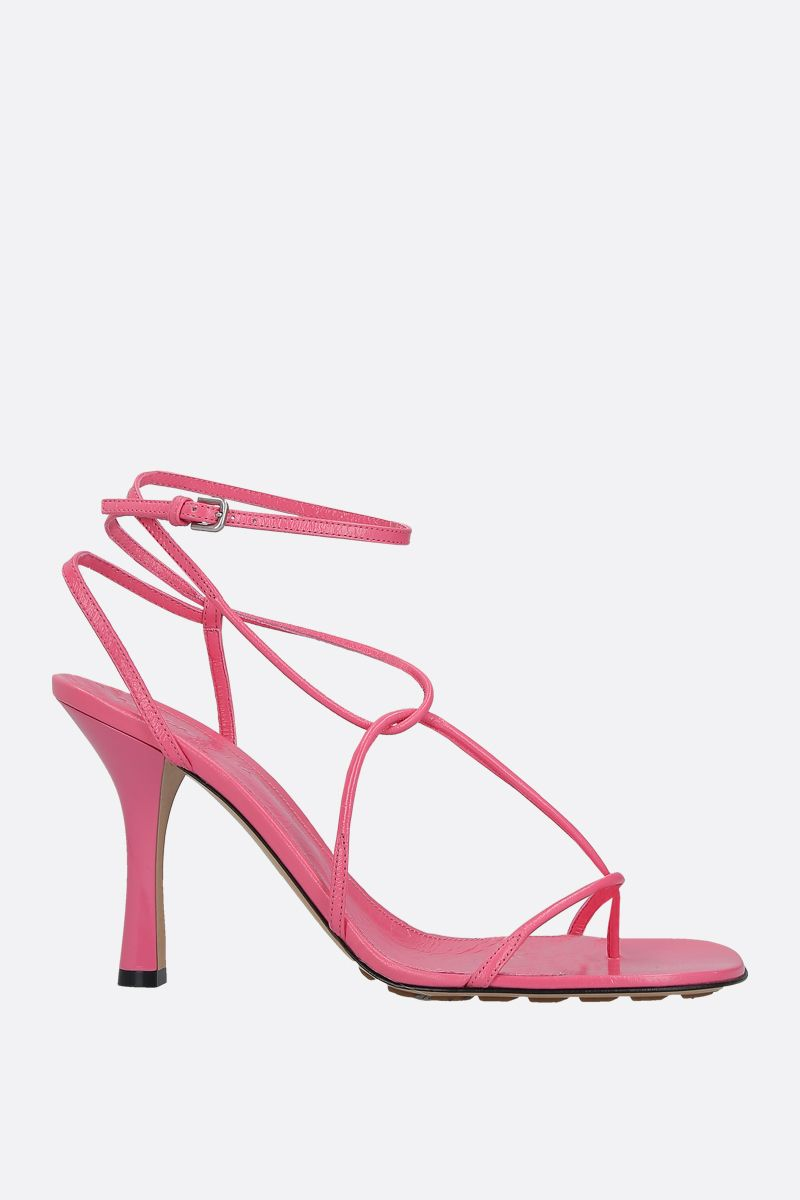 BOTTEGA VENETA: crush leather sandals_1
