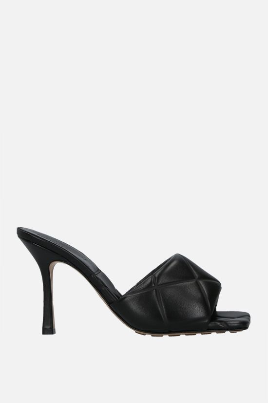 BOTTEGA VENETA: BV Lido quilted nappa sandals Color Black_1