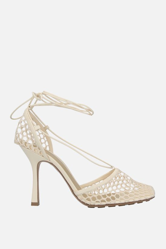 BOTTEGA VENETA: mesh and nappa sandals Color Multicolor_1