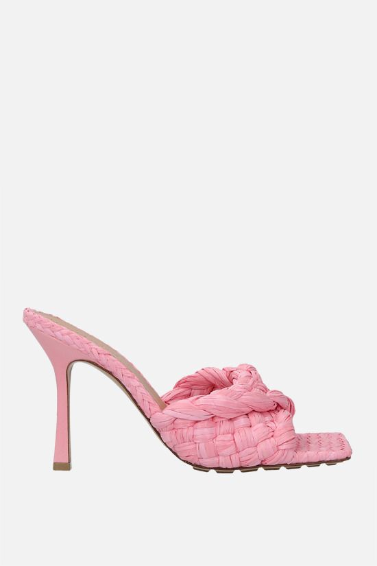 BOTTEGA VENETA: BV Lido raffia sandals Color Pink_1