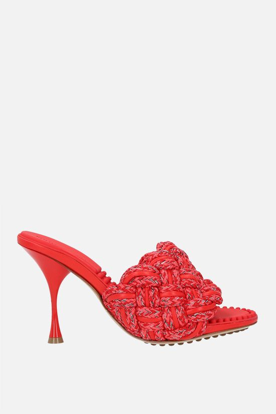 BOTTEGA VENETA: Dot nappa and rope sandals Color Red_1